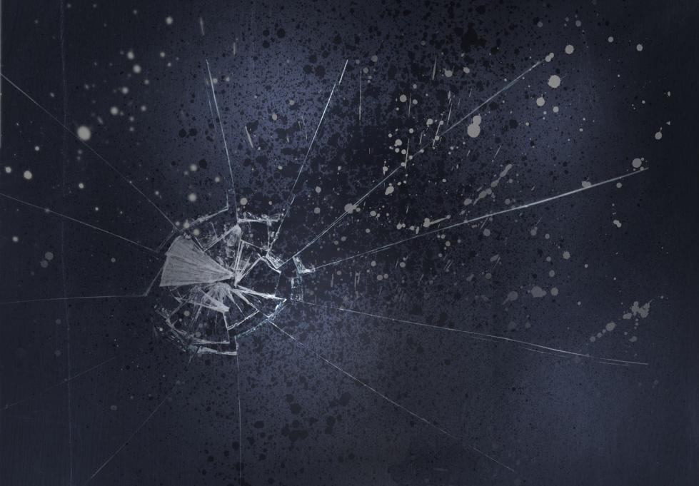 Scratched-glass